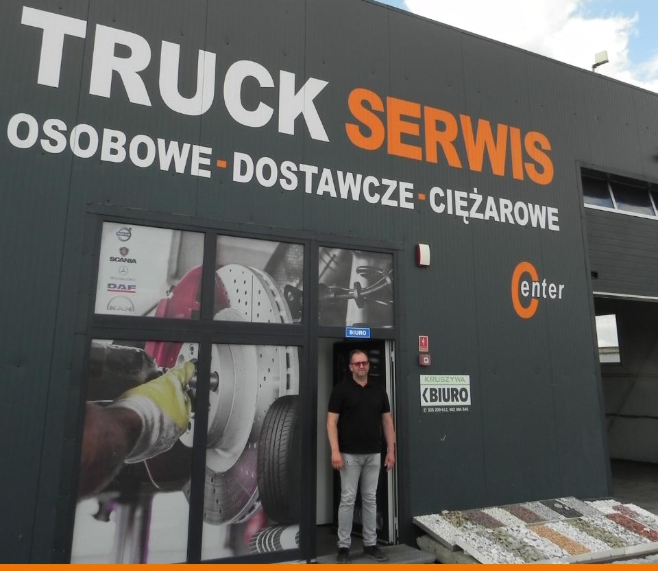 samochód ciężarowy serwisowany